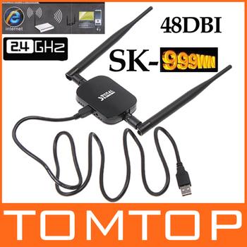 2.4G Signal King 2000mW 48DBI USB Wireless Adaptor SignalKing 999WN Wifi Antenna 150Mbps