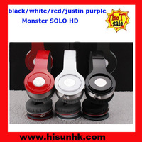 2013 new edition black/white/red/dark blue/light blue/purple/rose red soloo  hdd headphones for mp3/mp4/portable media player