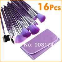 Charming Brushes for Makeup Eyeshadow/Powder Brushes + Purple Case Hot Sellling