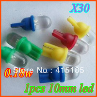 free shipping special offer 30pcs T10 1 LED 12V Round Car Indicator Automobile Lamp Interior light Bulbs W5W White