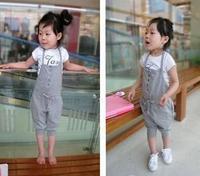 100% cotton Wind children's clothing child halter-neck bib pants Children's Overalls paghetti strap pants