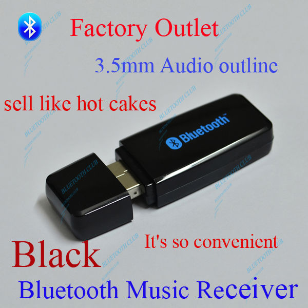 Hot !!! Quality Bluetooth Music Receiver Adapter USB Dongle 3.5mm Stereo Music Receiver Adapter for Speakers--Free Shipping(China (Mainland))