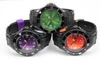 25pcs/lot DHL shipping hot sale black wristband fashion watch black strap fashion quartz watch watches men 13colors stock