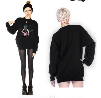 EAST KNITTING FH-236 Woman Chic Dog head Rottweil Print hoodies 2014 New brand sweatshirts womens pullovers free shipping