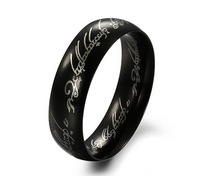 Кольцо High Quality! Tungsten steel 6mm Width The Lord of the Rings for men Size 7/8/9/10/11/12/13/14/15 with chain in gift box
