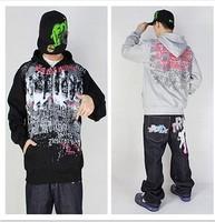 Hot-selling men's clothing hiphop hip-hop hoodie skateboard shirt fleece clothing hoody zipper outerwear sweatshirt s028