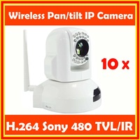 1/4 SONY CCD 10X Optical Zooming  CCTV network IP Camera