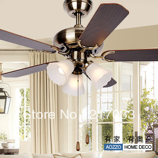 fashion vintage ceiling fan lights fan lamp living room lighting bedroom lamps 30212 e