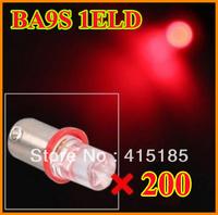 200pcs free shipping T8 BA9S 1LED super bright LED car Interior light / led lamp / Light Bulbs