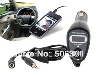 Free shipping + New 2014 Car Styling Four-in-One FM Car Transmitter with Charger Function (Black)