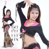 Женская одежда Performance Dancewear Dancing Halter Zebra-stripe Practice Belly Dance Costume For Ladies