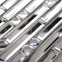 [Mius Art Mosaic] Diamond silver  mirror   glass mosaic tile for kitchen backsplash decoration A47074