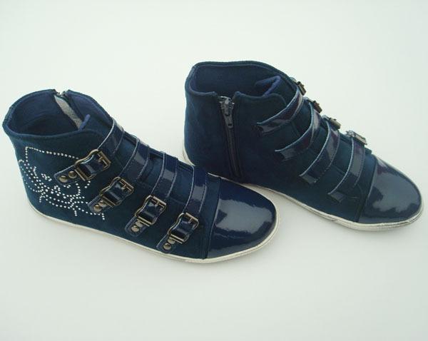 Jh-6d морской синий свободного покроя обувь, Материал : ( лакированная кожа ) нубука упаковка : 1 pair/lot коробка, Добро пожаловать согласно требованиям клиента 100