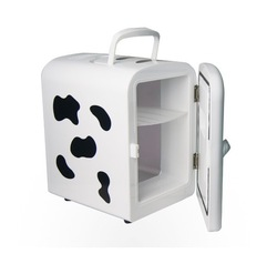 Cows dual-use refrigerator 4L mini Car & Home Fridge/Warmer refrigerator mini fridge(China (Mainland))