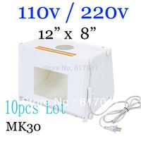 "10pcs/lot  MINI SANOTO 12""x8"" Portable photo photography studio with lamp light +photo background MK30"