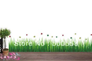 5pc DIY Grass skirting sticker 132*40cm home decor tv Sofa background pvc sticker removable