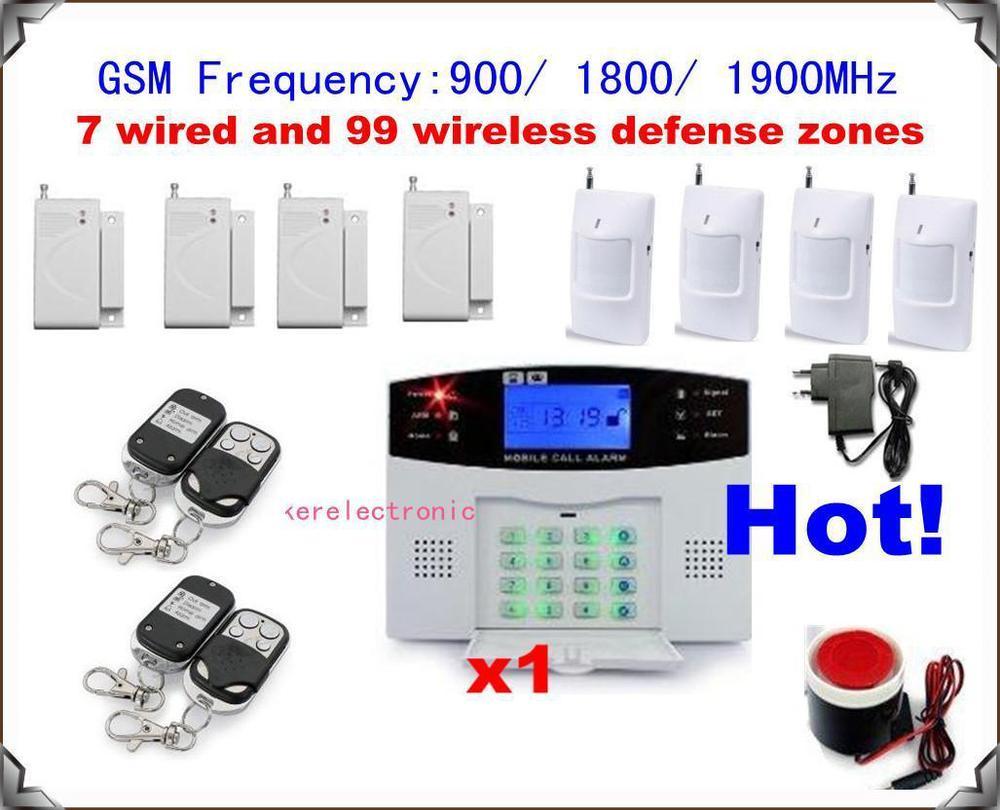 now1 set xNEW 106 zones GSM home alarm system wireless Burglar Alarm Auto Dialing