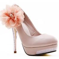 2013 New KVOLL wedding pumps women's shoe kvoll rhinestone big flower platform thin heels high-heeled  wedding pumps party shoes