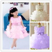 Factory price ! Free shipping children's dress skirts Princess white dress - flower girl dress GD-112