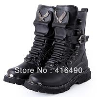 free shipping 2013 Tidal current male  medium-leg boots fashion  boots