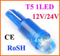 Free shipping T5 37 58 70 73 74 Car Auto Dashboard Gauge 1 LED Wedge Side Light Bulb Lamp 100pcs/lot