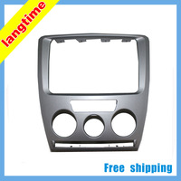 Free shipping-Car refitting DVD frame,DVD panel,Dash Kit,Fascia,Radio Frame,Audio frame for 2010 Skoda Octavia(combination),2din