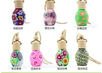 Free shipping Fashion Style Polymer Clay Freshener Oil Bottle Sent By Empty