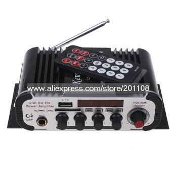 FC010A Kentiger HY-600 Black color Microphone input 2 CH Car Amplifier
