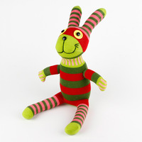 Christmas New Year Gifts 100% handmade DIY stuffed sock animals doll baby toys green rabbit