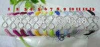 100PCS Wholesale Silver Tone Infinity Symbol Connector Bracelets Handmade Macrame Sideways Bracelets Honesty Braided Bracelets