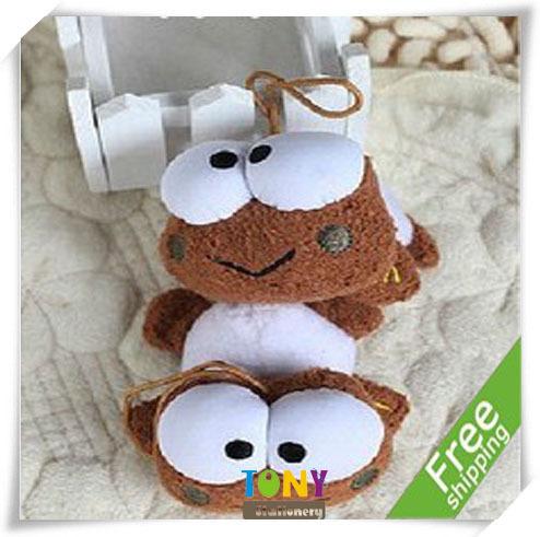 TONY Wholesale Free Shipping 9cm 12pcs/lot MR045 Plush Toys Hang Adorn Cute Stuffed Frog Dolls(China (Mainland))