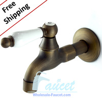 Free Shipping Modern Antique Brass Washing Machine Faucets XY02 Wholesale and Retail