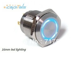 16mm momentary switch,led metal button switch,waterproof,illuminated push button switches,power switch(China (Mainland))