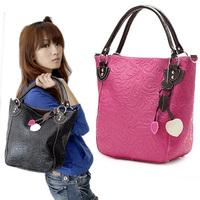 New Women's PU Leather Purses Handbags Totes Bag Shoulder Bag Black / Red 3814