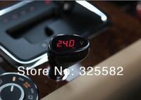 12V Red Digital LED Auto Car Volt Meter/Voltage Gauge