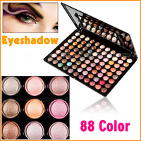 Pro 88 Full Warm Colors Shine Eye Shadow Makeup Palette Eyeshadow Powder