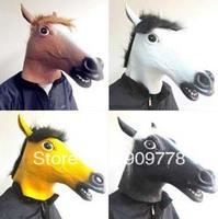 Eco-friendly Latex Novelty Creepy Horse Mask Head Halloween Costume Theater Prop
