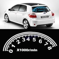 Free Shipping 80cm*30cm Speed Instrument board Car EL Music Rhythm Lamp Sticker Led Sound Activated Car Sticker