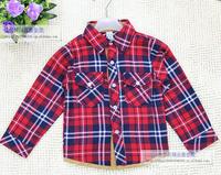 Free shipping!Wholesale new  hot long sleeve check shirt Children brands shirts 5pcs/lot