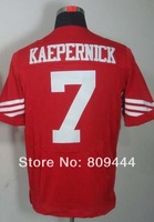 Free Shipping #7 Colin Kaepernick Men's Elite Football Jersey,Stitched Logos,Size M--3XL,Accept Mix Order