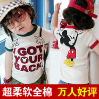 free shipping!Children's clothing mouse 100% cotton short-sleeve T-shirt 2012 summer  clothing girls clothing