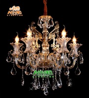 Free Shipping 2013 New Modern Crystal Chandelier Light With 6 Arms MDS59-L6 D670mm H720mm