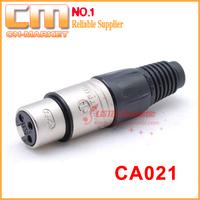 [26pcs/lot] 3 Pole Female XLR Cable Connector CA021 like Neutrik NC3FX