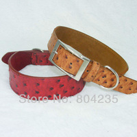 Wholesale 5PCS/lot  4.0*55cm brown\red PU leather pet collar,dog collar,cat collar, free shipping!