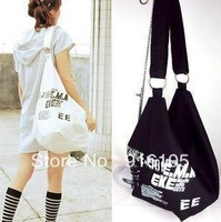 HOT/2013 College wind thick shoulder oblique satchel Canvas bag girl student recreation bag 4 kinds of color,Z-176