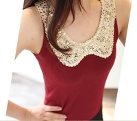 Four Seasons All Matching Lady's Tank Tops Fashion Solid Color Lady's Sleeveless Clothing Shinning Paillette Decoration Vest