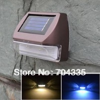 NEW Solar power  2LED Fence Stairway Garden Path Wall light