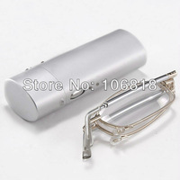 Read Stealth ! Compact Foldable Pocket Reading Glasses + Flip Top Protective Eyeglasses Case +2.50