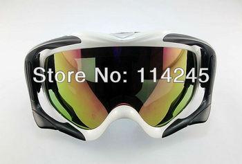 ATV Ski Motorcycle Off-Road Goggle Eyewear White Frame Color Lens T815-18