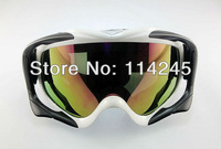 ATV Ski Motorcycle Off-Road Goggle Eyewear White Frame Color Lens T815-18